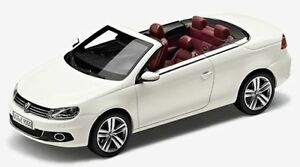 NEW GENUINE VW EOS CANDY WHITE 1:43 SCALE DIECAST COLLECTOR'S MODEL CAR