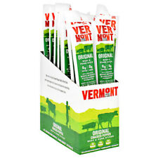 Vermont Paleo Keto MEAT STICK Original Beef & Pork 24 Sticks CRACKED PEPPER