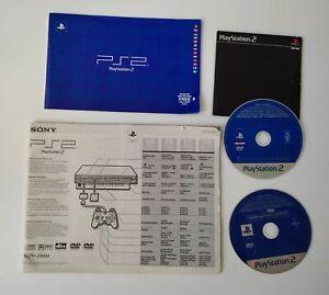 Sony Playstation 2 SCPH-39004 1x Bedienungsanleitung, 2x Demo CD, Zustand ok PS2