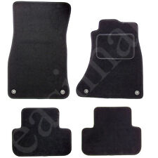 Audi A4 B8 2008-2015 Car Mats Tailored Carpet Black 4pcs Floor Mat Set