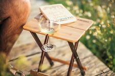 TravelChair SIDE KANPAI BAMBOO TABLE OUTDOOR PORTABLE FOLDING STOOL WOOD