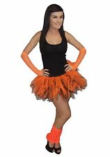 Neon  6 Layer Tutu Legwarmers Gloves UK Sizes 8 - 20 80s Fancy Dress Costume