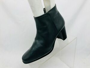 Enzo Angiolini Gray Leather Zip Ankle Boots Bootie Size 6 M