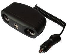 Multiprise rallonge spirale 1m pour allume-cigare 10A 12V USB 5V auto voiture