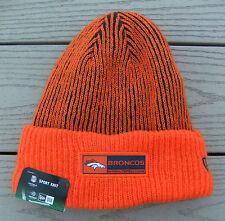 NWT NEW ERA Denver Broncos Tech Knit Mens Lined Cuffed Beanie Hat-OSFM Ret@$25