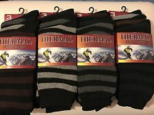 12 PAIRS OF STRIPED WINTER WARM THERMAL HEATED SOCKS