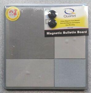 "Quartet Magnetic Foam Bulletin Board 11.5"" × 11.5"" Uses Magnets and Tacks - New"