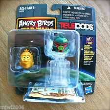 ANGRY BIRDS STAR WARS Boba Fett Pig & C-3PO Bird TELEPODS 2-Pack RARE Set C3P0