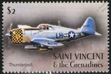 WWII US Navy Republic P-47 THUNDERBOLT Fighter-Bomber Aircraft Stamp/St Vincent