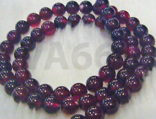 DIY 6mm Dyed Ruby Red Agate Gemstone Garnet Maroon Strand Craft Batu Asli