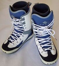 Vans Dino 2 Snowboard Boots Womens Size US 7 Blue White Lace Wrap Liner