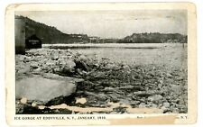 Eddyville NY -ICE GORGE ON RONDOUT CREEK- Postcard Kingston
