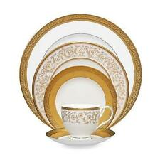 Noritake Summit Gold 5-Piece Place Setting (MISSING TEACUP) FREE SHIPPING