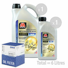 Engine Oil and Filter Service Kit 6 LITRES Millers NANODRIVE EE 5w-30 6L