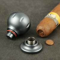 CIGARISM Grey Plating Aluminium Alloy Cigar Stand Rest Punch Set