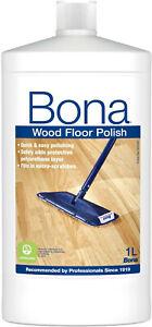 Bona Wood Floor Polish Maintenance Coating for Varnished Wood Matt or Gloss - 1L