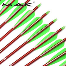 "Archery 30"" Spine 300 Aluminium Arrows 8.8 mm Plastic Vanes Compound Bow Target"