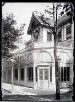 Cercle Da Royat Francia Foto Negativo Grande Placca Lente Vintage c1900