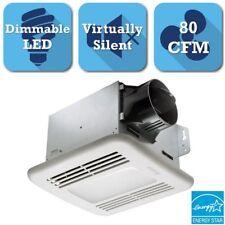 Ceiling Exhaust Bath Fan with LED Light GreenBuilder Series 80 CFM Bathroom