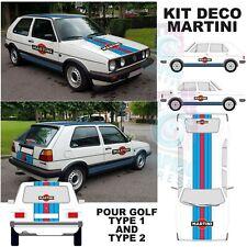Kit deco Martini volkswagen golf 1 ou 2  - stickers sticker autocollant RACING