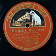 78 rpm THEODORE CHALIAPINE ave signor / vi ravviso