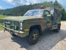 CUCV Chevrolet Dually Service Truck Square Body Diesel D30 M1031 4WD RARE