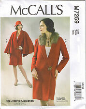 Vtg 20s Early 1900s Wrap Coat Detachable Cape Collar Sewing Pattern 6 8 10 12 14