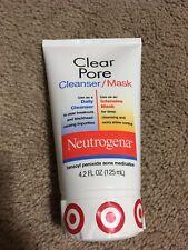 NEW! Neutrogena Clear Pore Cleanser/Mask benzoyl peroxide