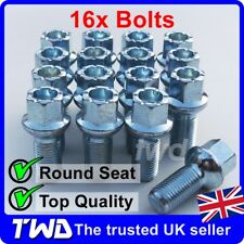 16 x ALLOY WHEEL BOLTS FOR SEAT (M14x1.5) 14MM RADIUS ROUND LUG STUD NUTS [R40]