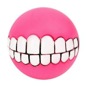 Funny Pet Squeaky Toy Dog Ball Teeth Funny Sound Dogs Play Toys Random Color