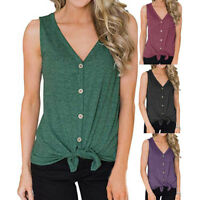 Womens Summer Tank Tops Cami Lace Casual Plain Sleeveless Camisole Vest T-Shirts