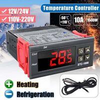DC 12V/24V/ AC 110V-220V Digital Temperature Controller STC-1000 PID Thermostat