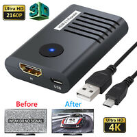4K HDMI 2.0 Repeater 60M 2160P 3D HDMI Extender Booster Adapter for PC DVD Sky