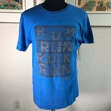 Asics Men's Run Urban T-Shirt Blue Size Medium Mrsp $34