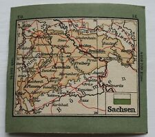 Antique Stamp Album Map –1920s? - Saxony – (6 x 6.8 cm ) (Se1)