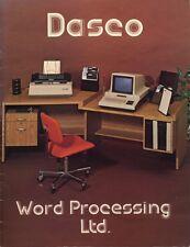 Canadian Computer history: DASCO Word Processing Catalogue  1979 1980 Canada