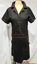 TRIPP DRESS BLACK RED CHECKERED TRIM GOTH PUNK COSTUME SZ 14