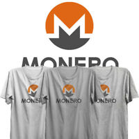 Monero Logo Limited Edition fitted soft Tshirt Cypto currency Ethereum litecoin