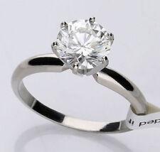 Anillos de joyería con diamantes solitario platino