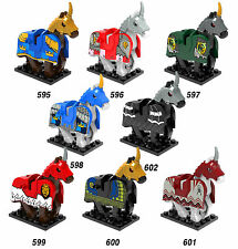 Medieval knights DRAGON KNIGHT HORSES WARRIOR 8 Minifigures Building Toys lEGO
