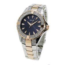 Sekonda Seksy Midnight Blue Dial Rose Gold & Silver Tone Bracelet 2140