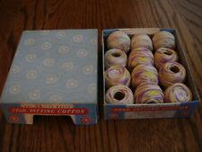 vintage Star Tatting Cotton lavender & yellow balls & pink & blue balls ( 12 )