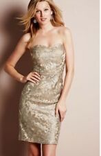 NEXT SIZE  16 TALL CHAMPAGNE GOLD  ALL OVER SEQUIN BANDEAU STRAPLESS DRESS BNWT