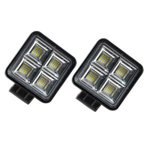 12-30V LED High-bright Work 192W Spot Light Car SUV Truck Driving Fog Lamp 2PCS