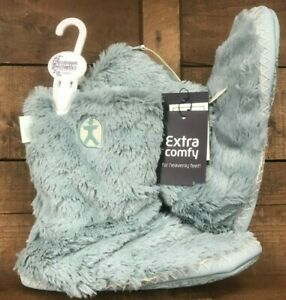 Ladies bedroom athletic 'Marylin' boot slippers seafoam green