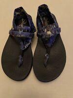 Skechers Yoga Foam Multi-Color Thong Sling Wedge Comfort Sandals Womens Size 7