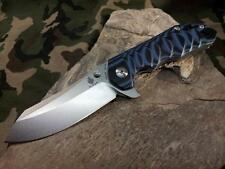 Kizer Sovereign Folding Knife Pocket Black Blue VG-10 Stainless Tactical V4423A2