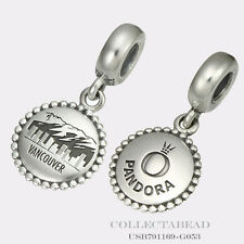Authentic Pandora Silver Dangle Vancouver Destination Bead USB791169-G053