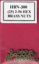 HBN-300. (25) 2-56 Hex Brass Nuts