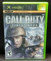 Call of Duty Finest Hour  -  Microsoft Xbox OG Rare Game Complete Working Tested